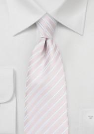 Pastel Pink and White Kids Necktie