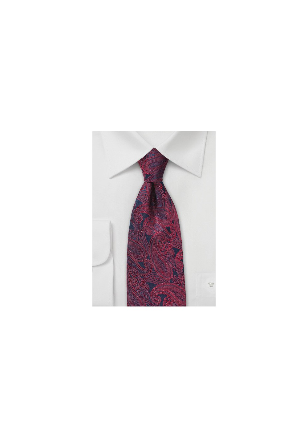 Blue and Red Paisley Silk Tie