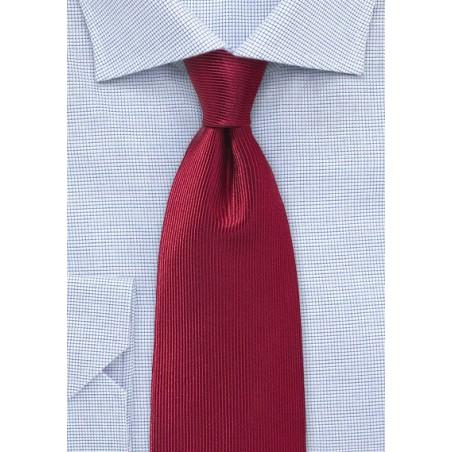 Corduroy Silk Tie in Cherry Red