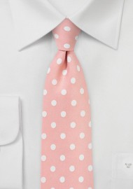 Polka Dot Tie in Salmon Pink