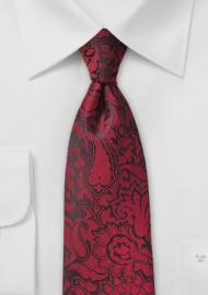 Chili Red Paisley Tie