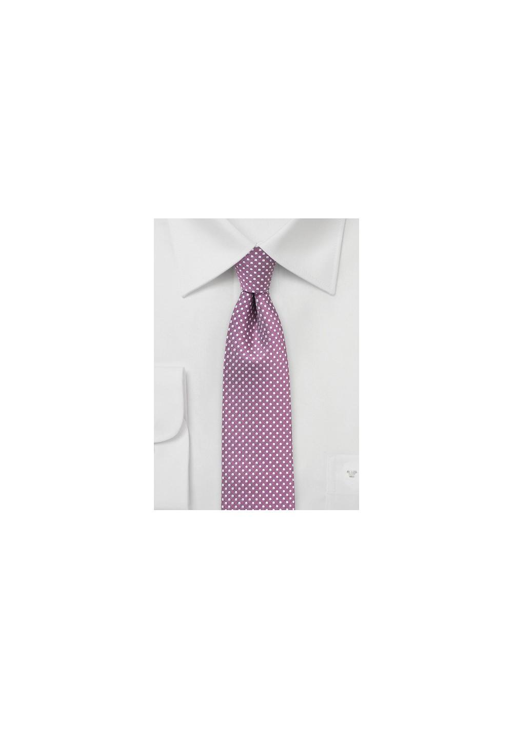 Pin Dot Tie in Raspberry
