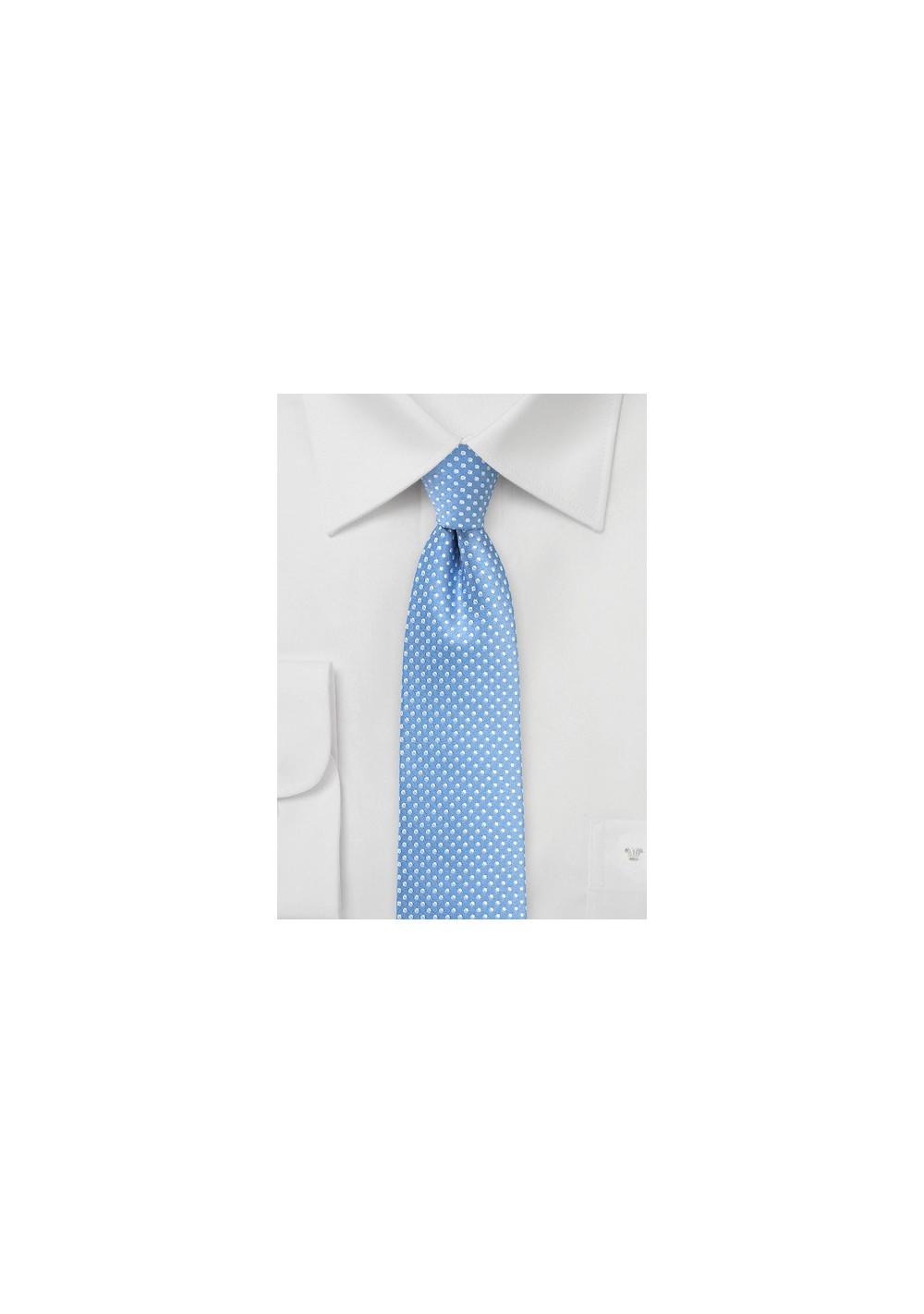 Dusty Blue Pin Dot Tie
