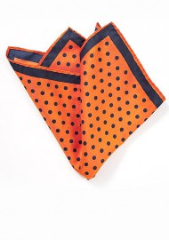 Bright Orange Polka Dot Pocket Square