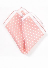 Pink and White Pocket Square