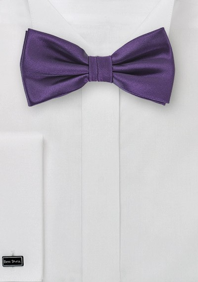 Majesty Purple Bow Tie