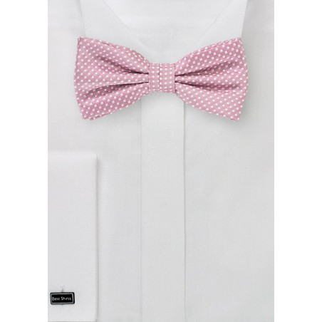 Dusty Rose Pin Dot Bow Tie
