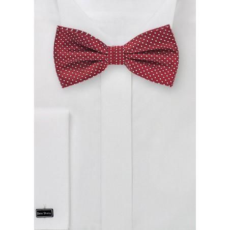 Cherry Pin Dot Bow Tie
