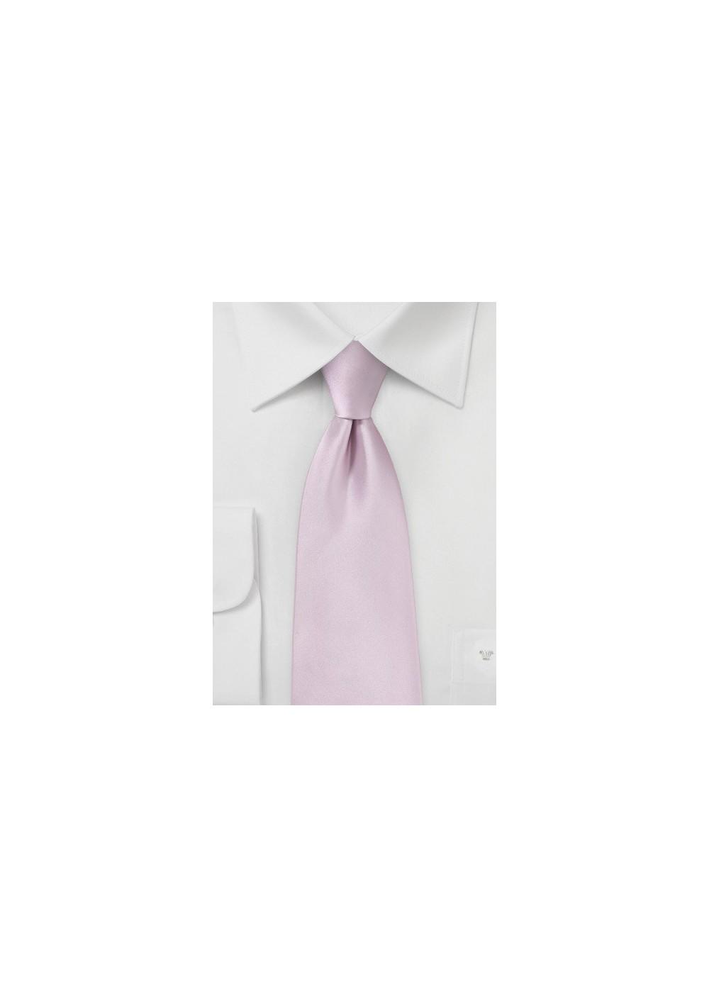 Soft Lilac Pink Kids Tie