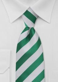 Metallic Green and White Kids Necktie