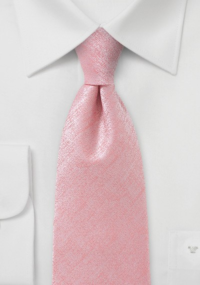 Heathered Tie in Pink for Tall Men