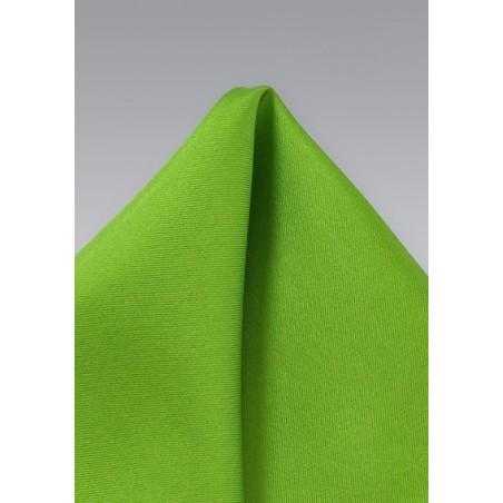 Bright Lime Green Silk Pocket Square