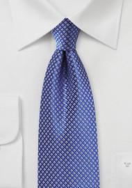 Bright Blue Silk Tie With Golden Mini Checks Bows N Ties Com