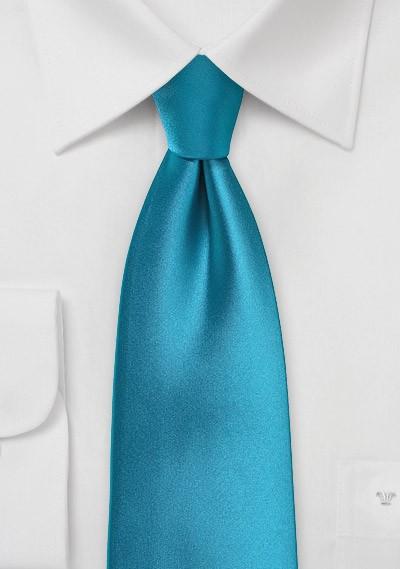 Solid Peacock Blue Boys Necktie