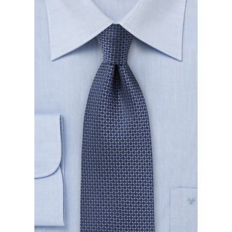 Woven Silk Tie in Classic Navy