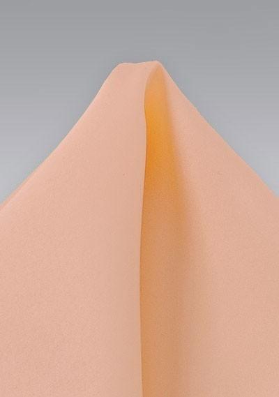 Coral Peach Hued Silk Pocket Square