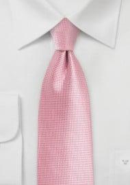 Flamingo Pink Tie in XL Length