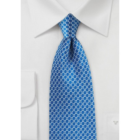 Marina Blue Satin Silk Tie