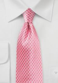 Confetti Pink Silk Designer Tie