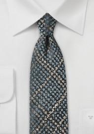 Trendy Slim Cut Tie in Snake Skin Design
