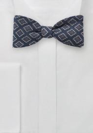 Diamond Medallion Bow Tie in Wool