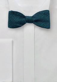 Metallic Silk Bow tie in Teal
