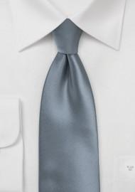 Classic Gray Extra Long Tie
