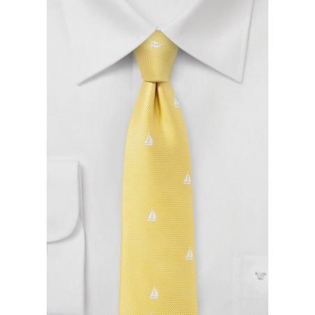 Nautical Summer Tie in Bright Yellow