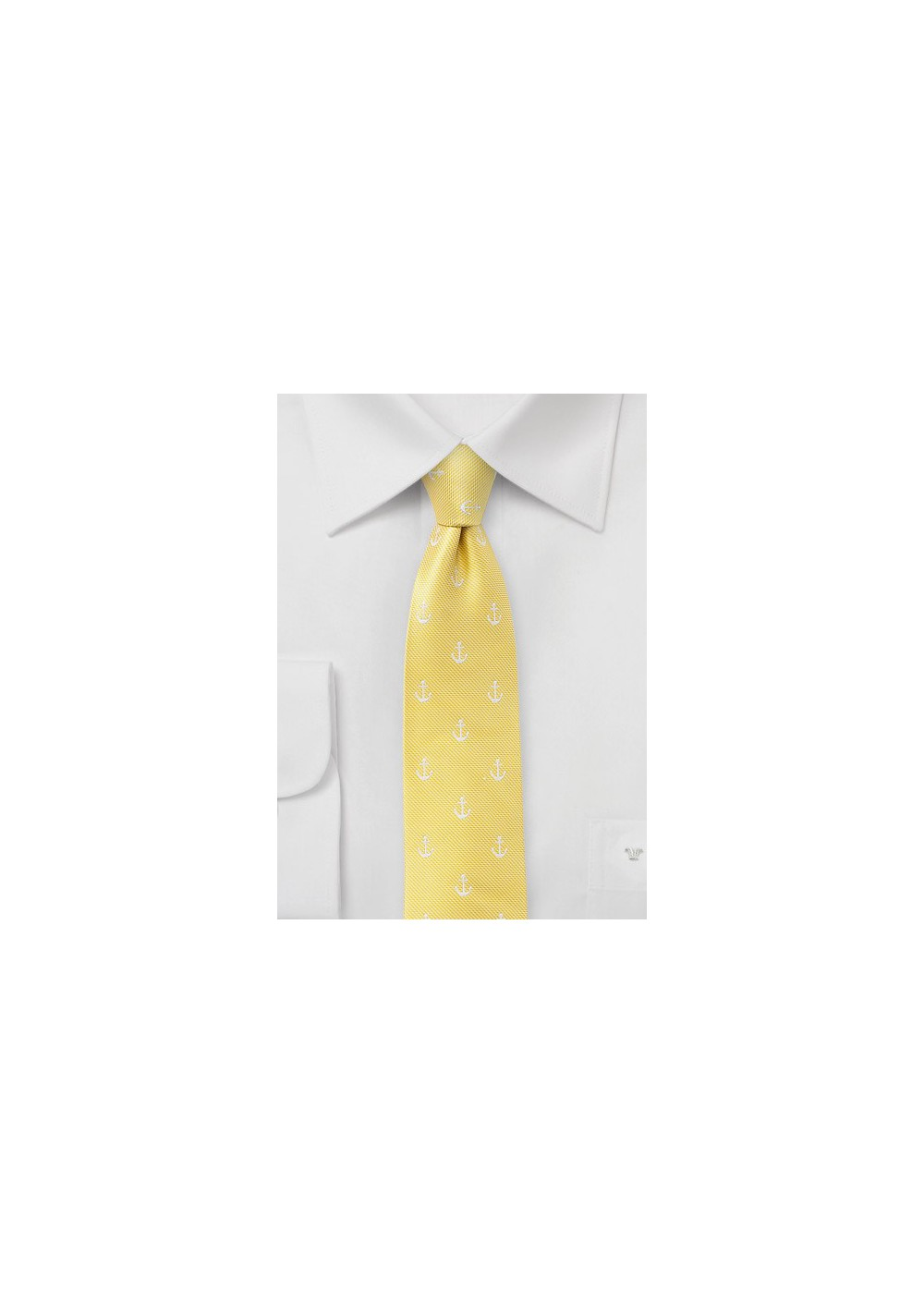 Anchor Summer Tie in Yellow