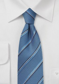 Indigo Striped Silk Tie
