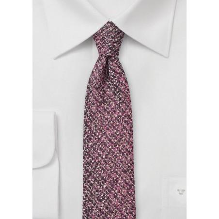 Port Red Tweed Tie