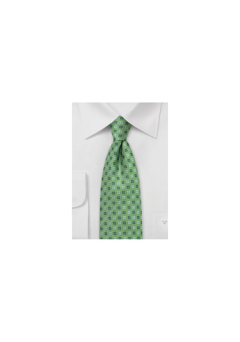 Amazon Green Woven Silk Tie