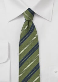 Cedar Green Skinny Wool Tie