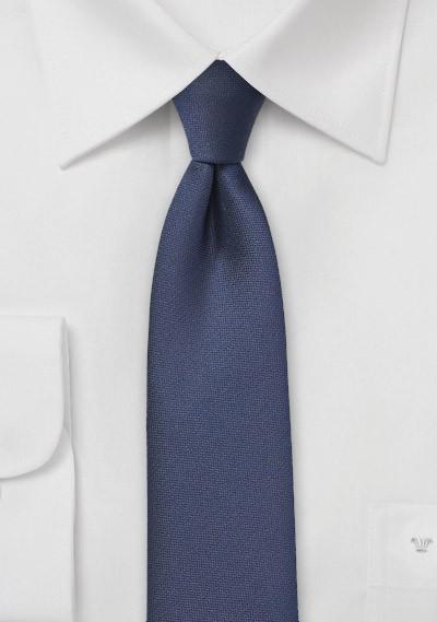 Matte Navy Skinny Tie