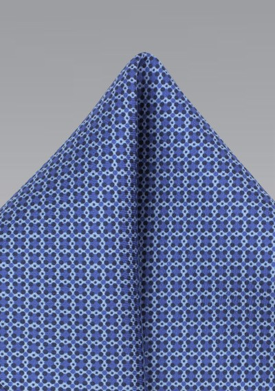Ink Blue Graphic Print Pocket Square