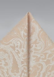 Classic Champagne Wedding Pocket Square
