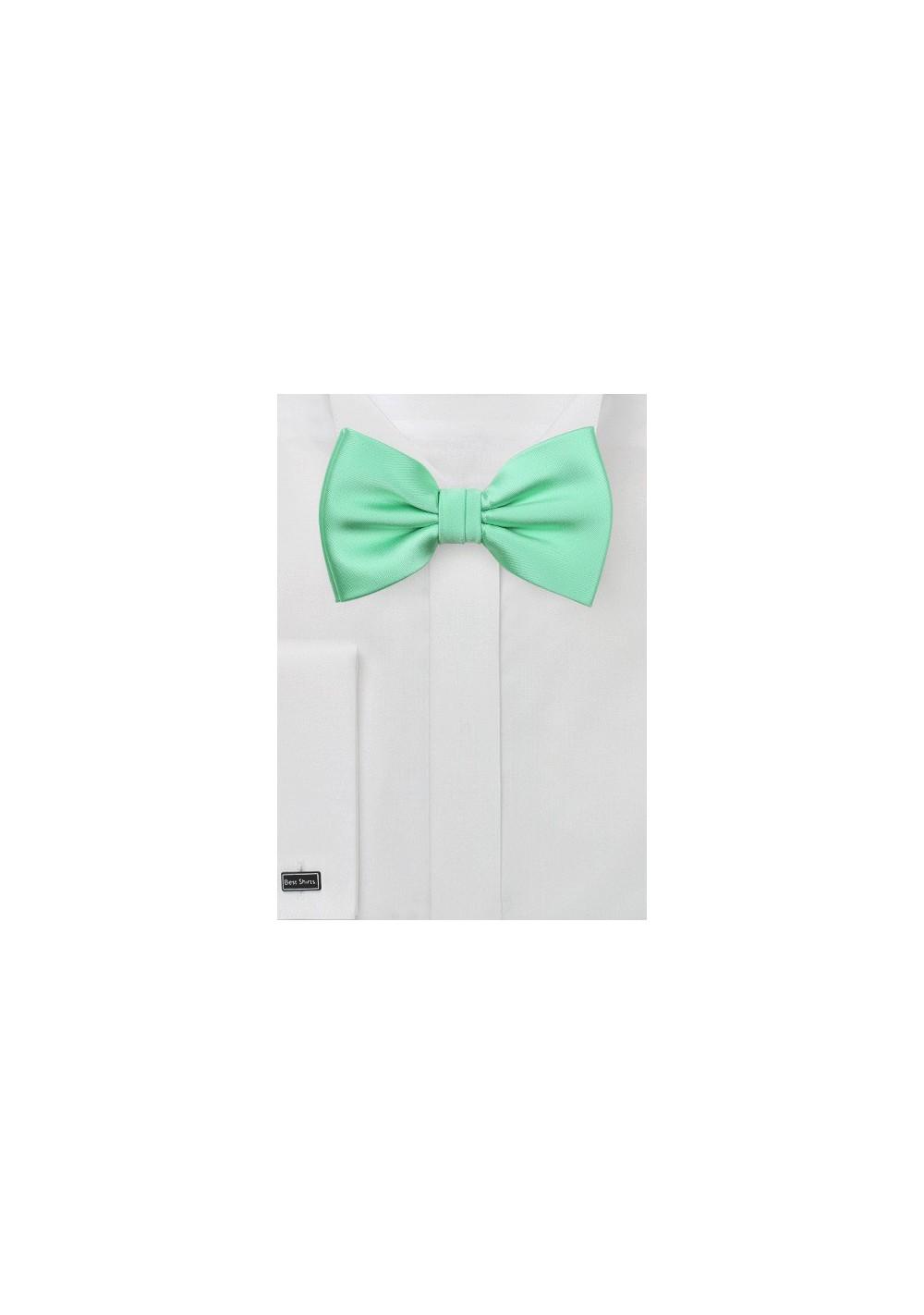 Bright Mint Bow Tie
