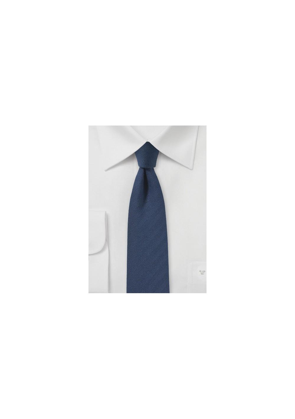 Slate Blue Herringbone Tie
