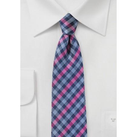 Multicolored Gingham Check Tie