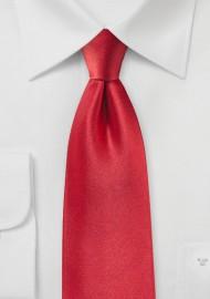 Tomato Red Satin Silk Tie