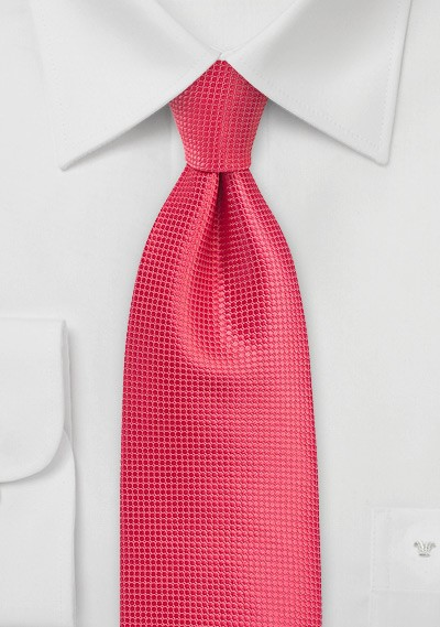 Kids Tie in Spiced Coral