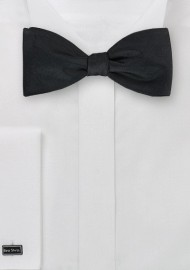 Self Tied Bow Tie in Jet Black