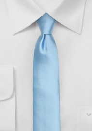 Mens Skinny Tie in Light Blue