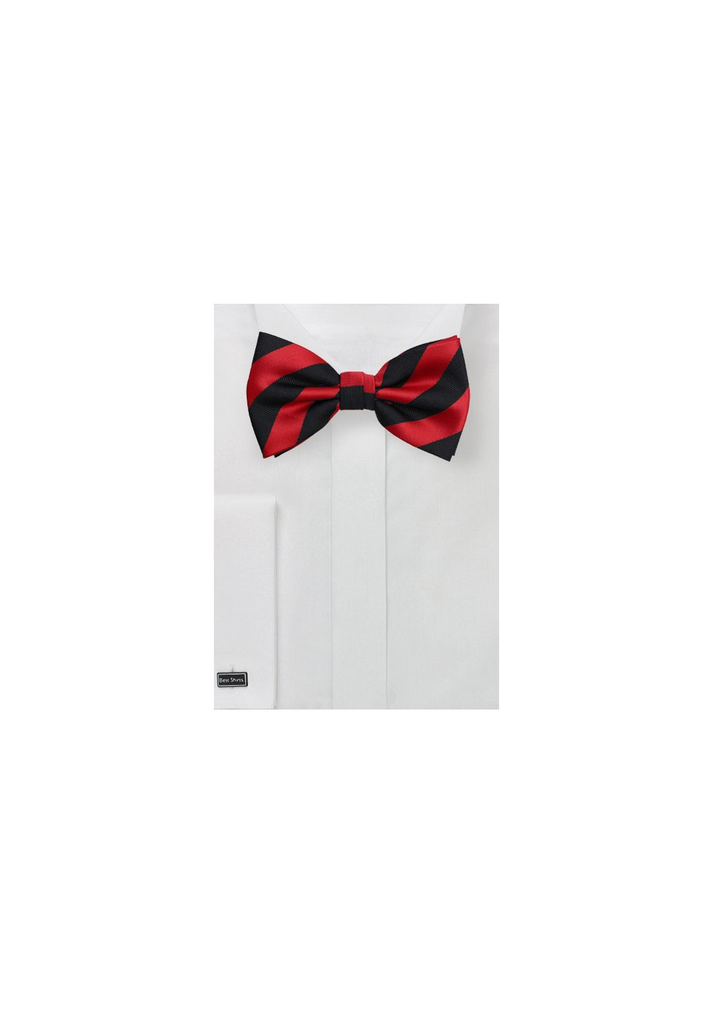 Striped Bow Tie in Black and Red