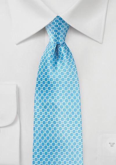 Silk Designer Tie in Tropical Blue