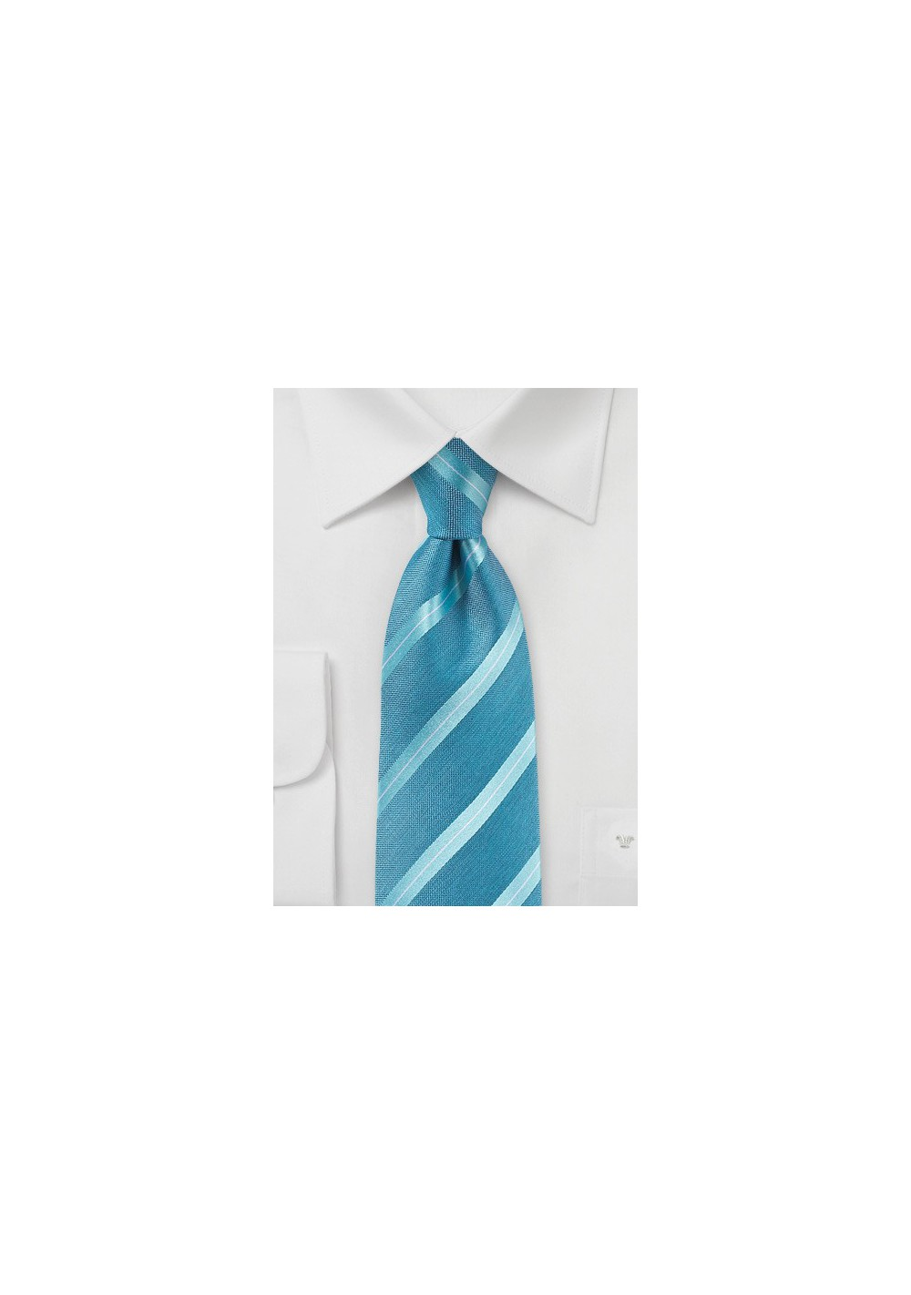 Pool Striped Summer Silk Tie