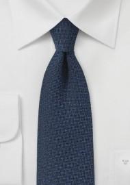 Dark Navy Matte Woven Silk Tie