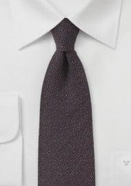 Espresso Brown Matte Textured Silk Tie