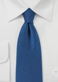 Vintage Textured Tie in Nautical Blue