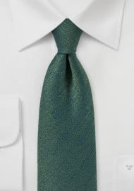 Vintage Textured Tie in Pine Green